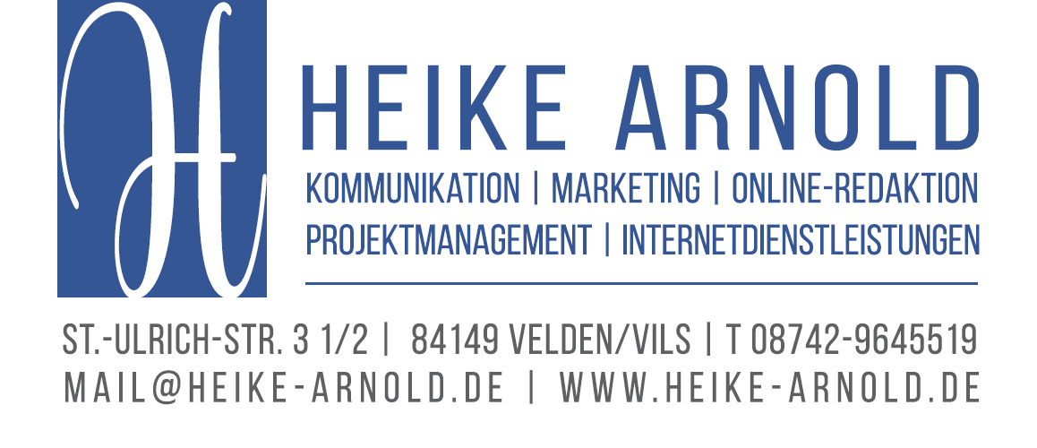 Logo Heike Arnold Kommunikation Marketing Text
